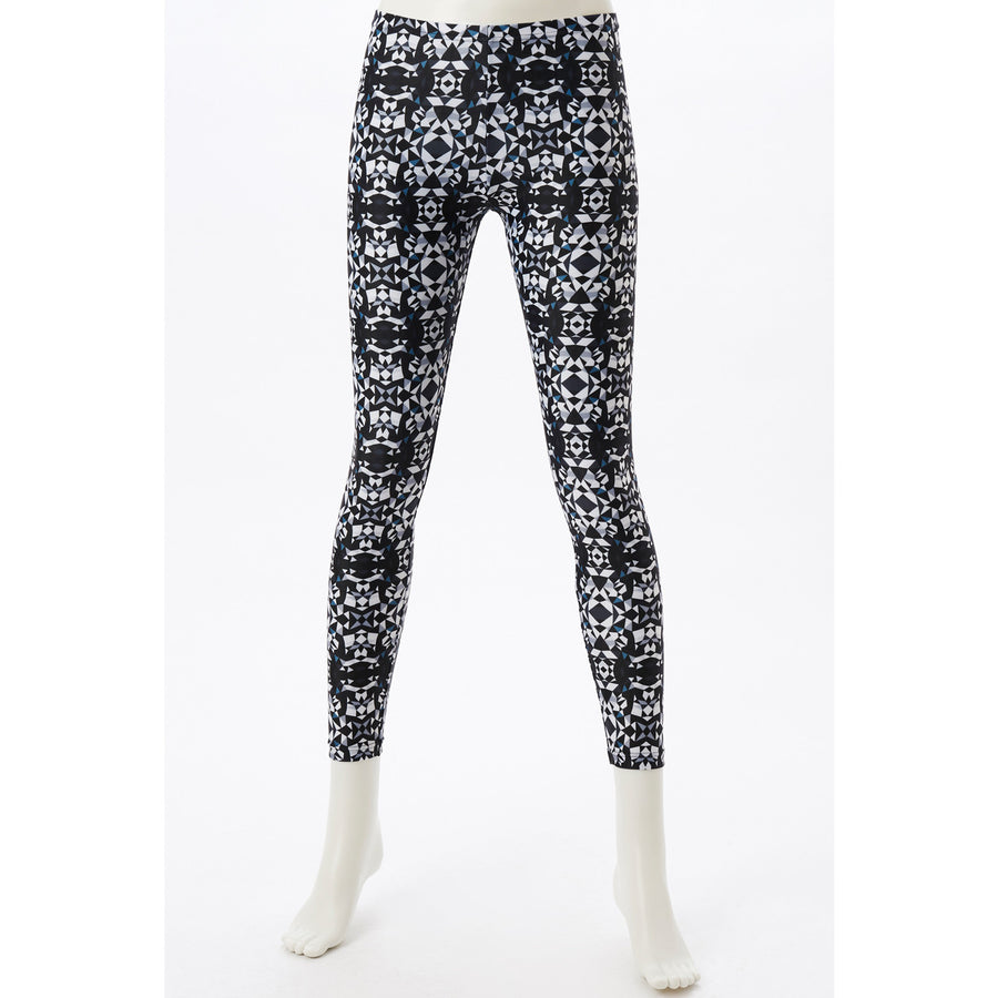Spunkee - Patterned Leggings - Mono Mosaic - bodyartwebstore
