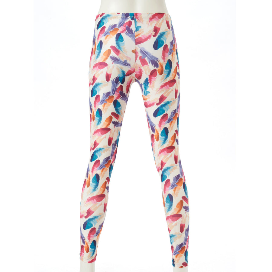 <NEW>Spunkee Feather Leggings - Off White