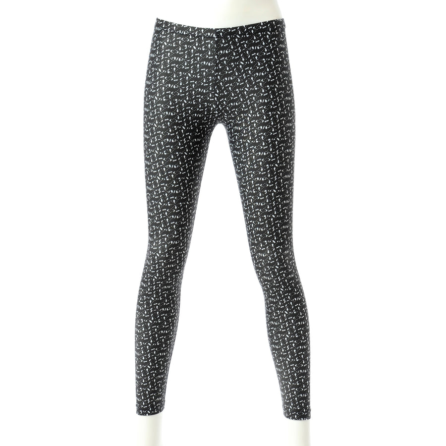 <NEW>Spunkee Block Graphic Leggings - Black + White
