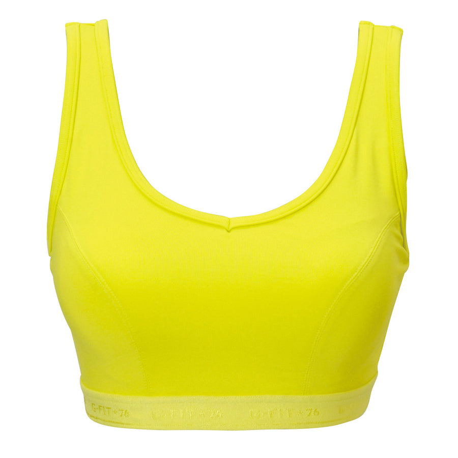 High Impact Sports Bra - Lime - bodyartwebstore