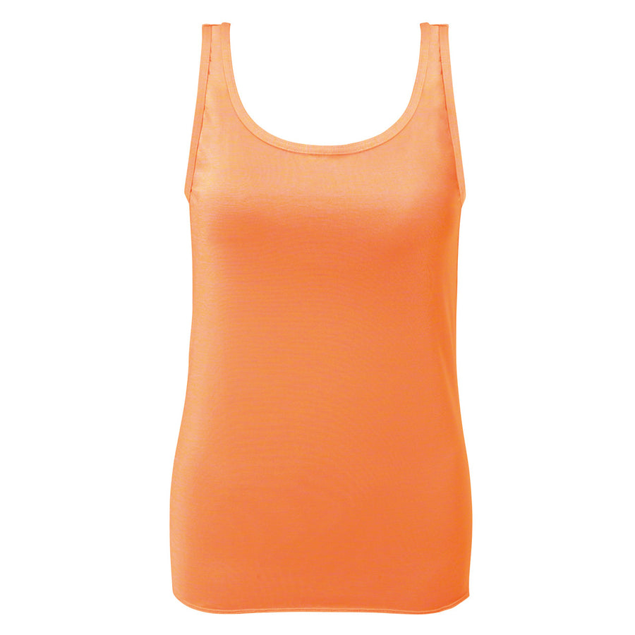 Glosry - Silky Tank Top - Orange - bodyartwebstore