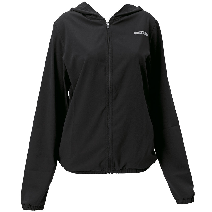 Ultra Light Hooded Zip Air Jacket - Black - bodyartwebstore