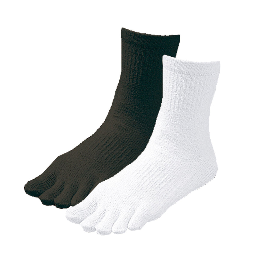 Women's Non-Slip Crew Five Finger Socks - 2 colors