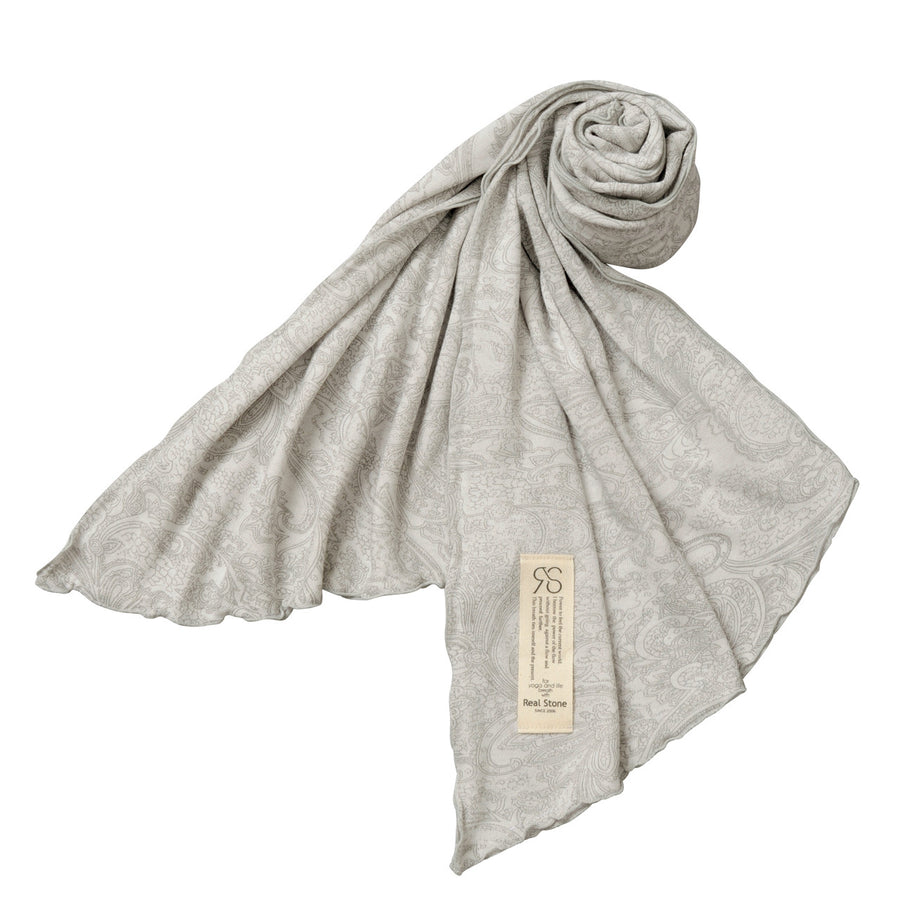 Paisley Scarf - Light Grey - bodyartwebstore