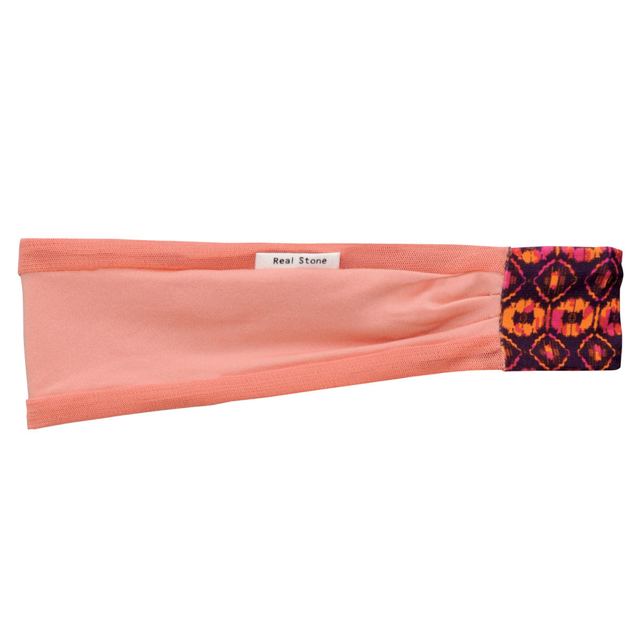 Air Mousse Head Band - Salmon Pink - bodyartwebstore