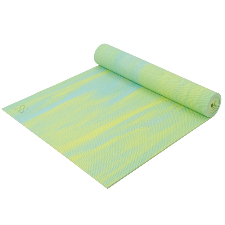 Marble Yoga Mat - Yellow + Mint - bodyartwebstore