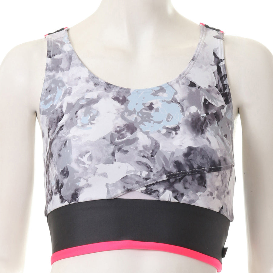 Blurred Flower Bra - Grey - bodyartwebstore