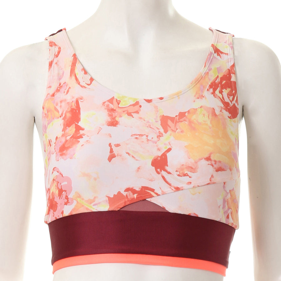 Blurred Flower Bra - Red - bodyartwebstore
