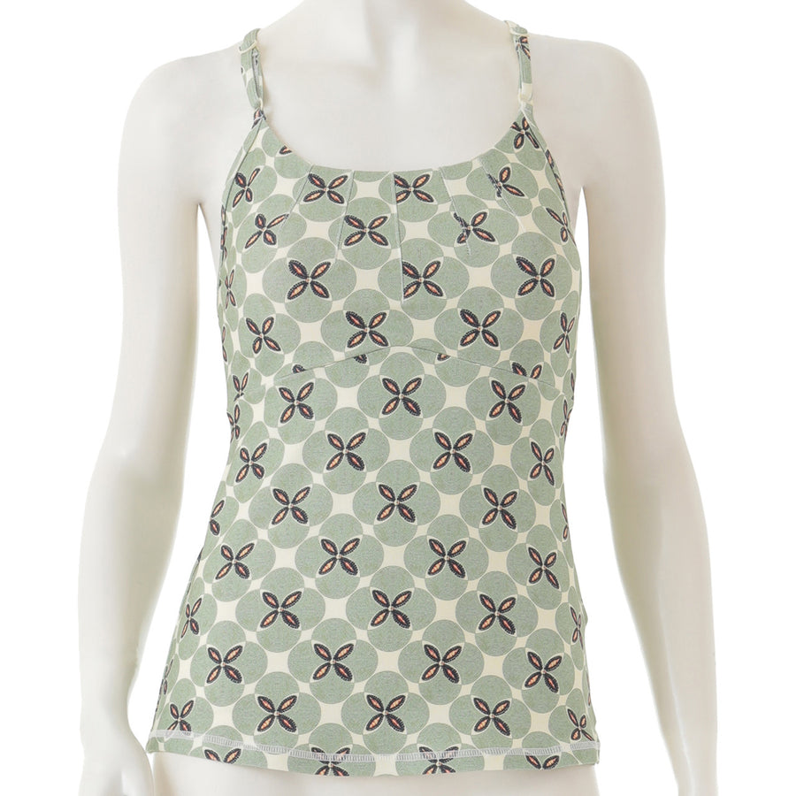 Peach Patterned Cami - Light Green - bodyartwebstore