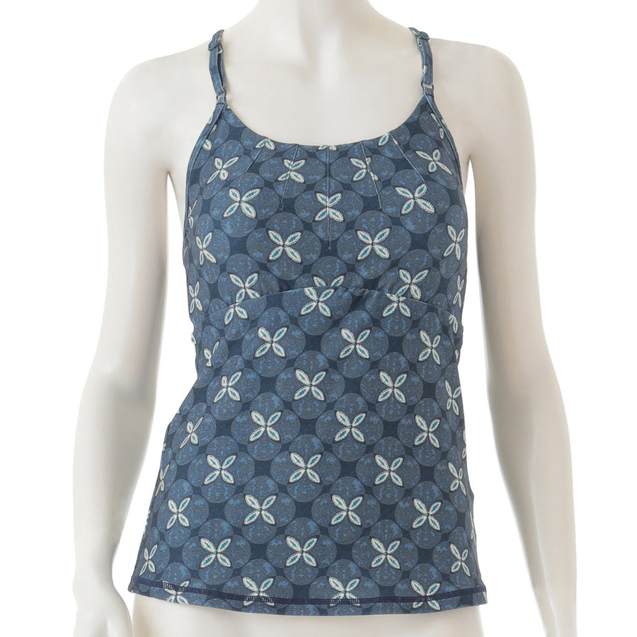 Peach Patterned Cami - Navy - bodyartwebstore