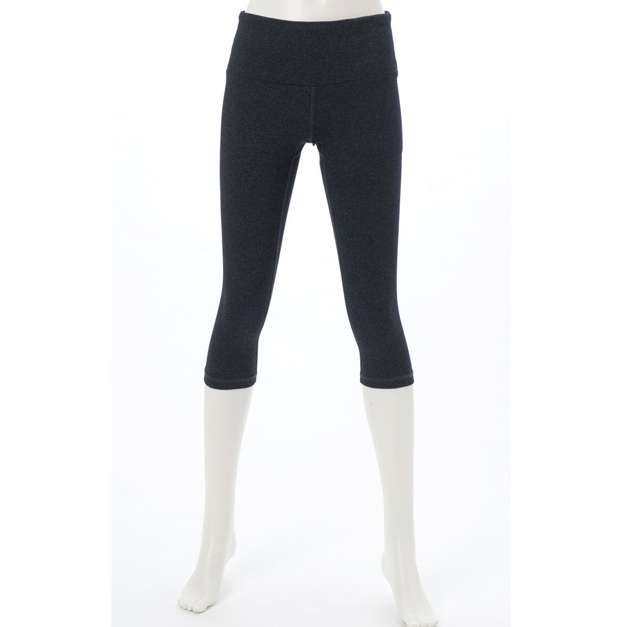 Raiby - Capri Leggings - Heather Dark Grey - bodyartwebstore