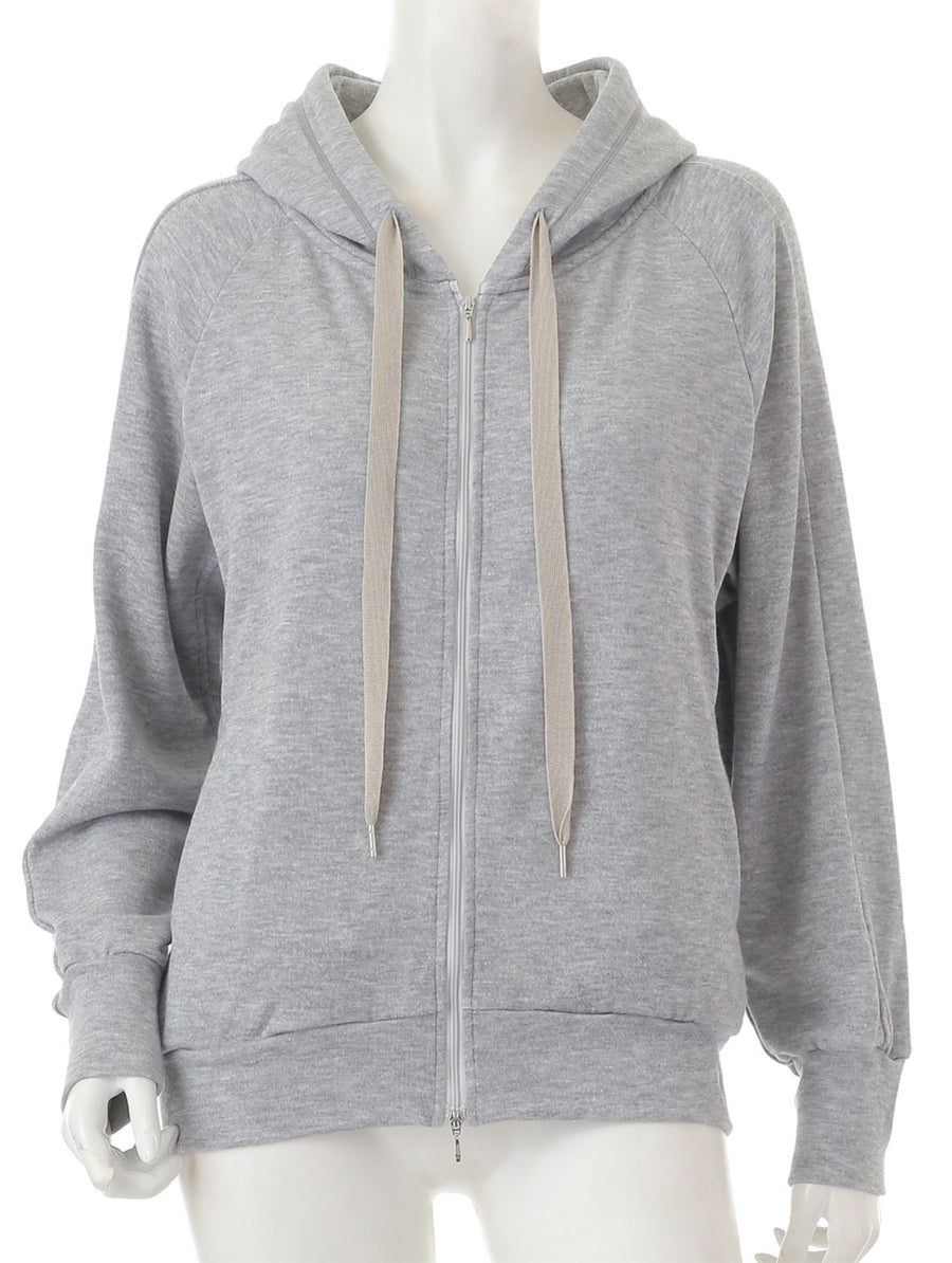 Smooth Fleece Hoodie - Grey - bodyartwebstore