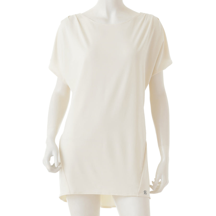 <NEW>Heather Patel Pleated T-shirt - Cream