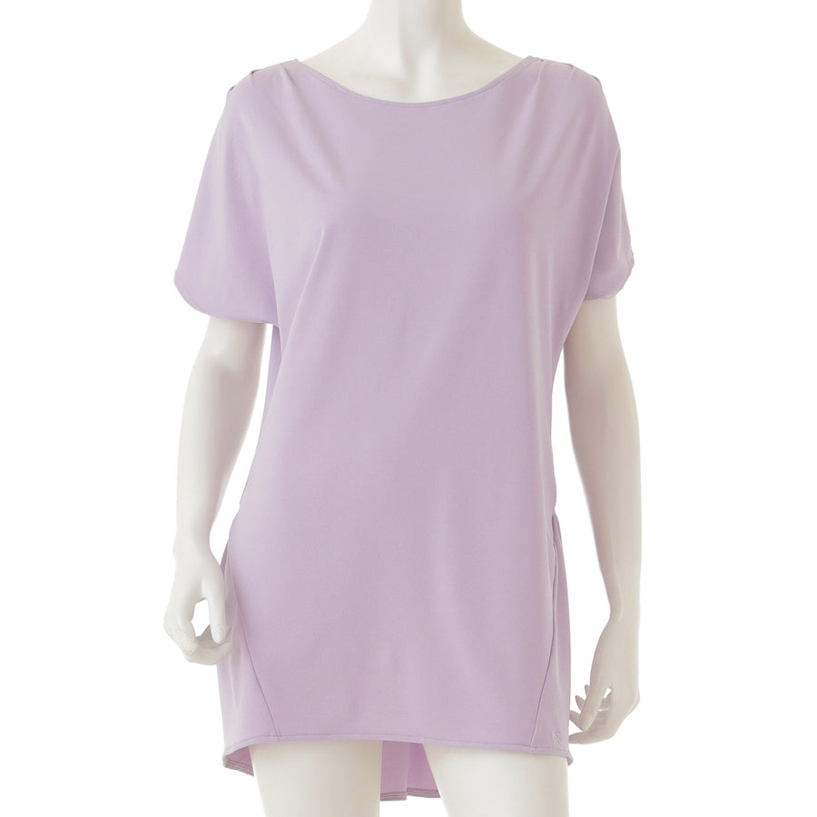 <NEW>Heather Patel Pleated T-shirt - Light Purple