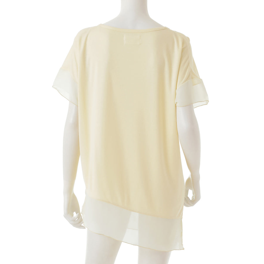 <NEW>Micro Modal Asymmetric T-shirt - Light Yellow