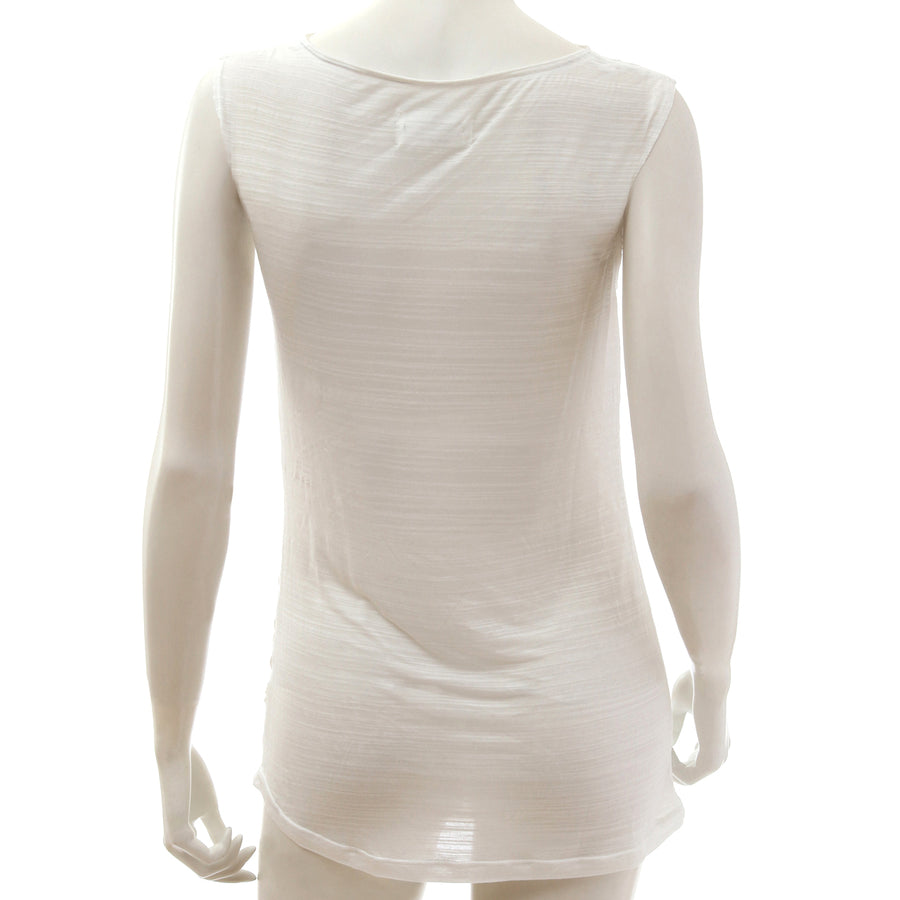 Sheer Jersey Tank Top - White