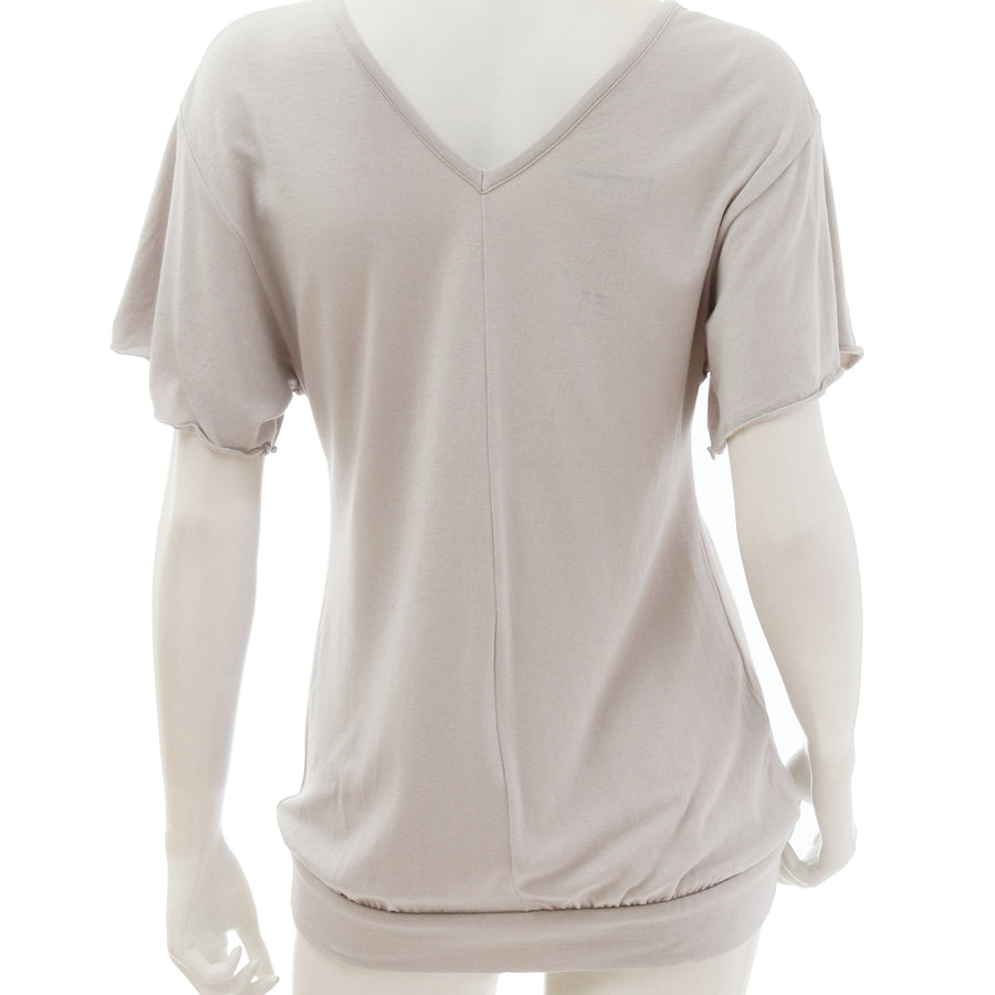 <NEW>Milky Veil Big Sleeve Top - Light Gray