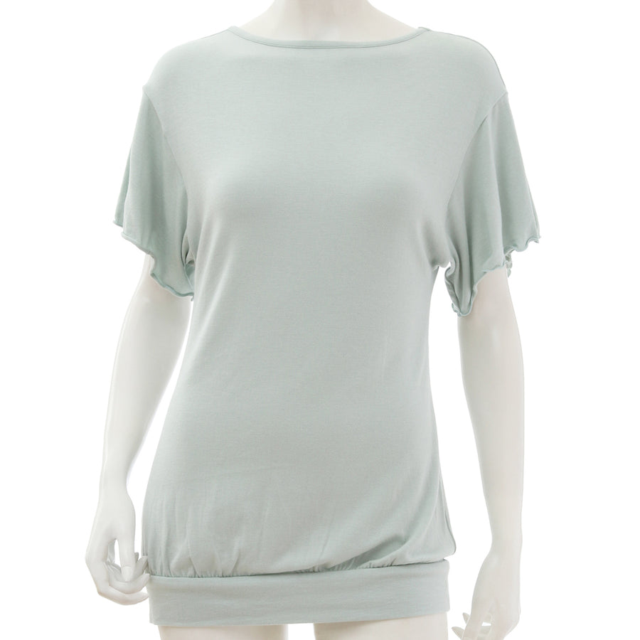 <NEW>Milky Veil Big Sleeve Top - Light Green