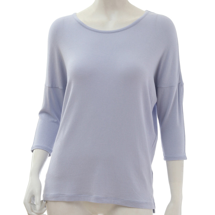 <NEW>Milky Veil Cropped Sleeve Top - Light Purple