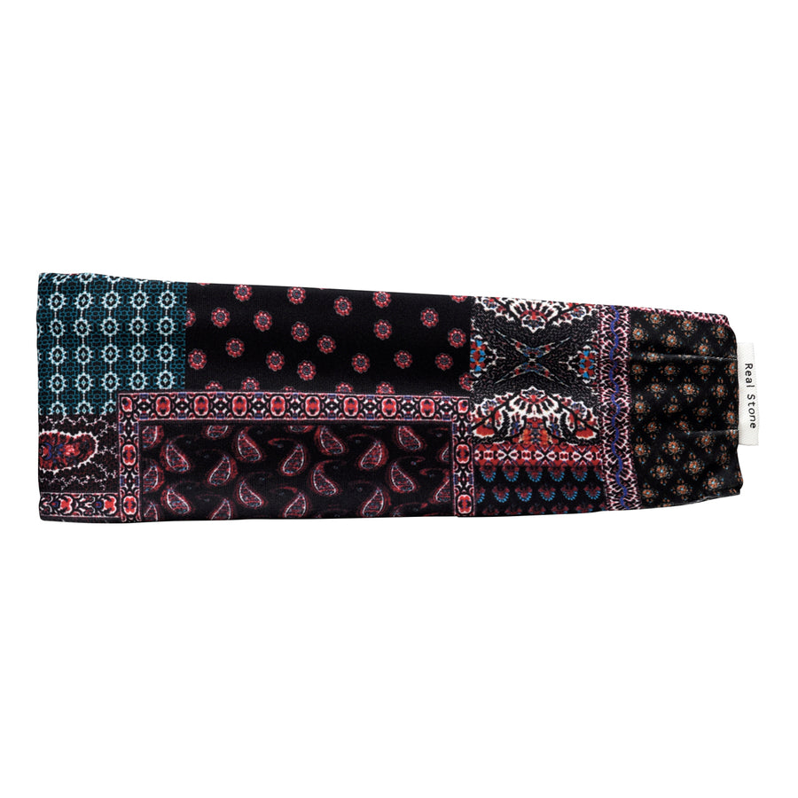 <NEW>Pile Head Band - Black Paisley
