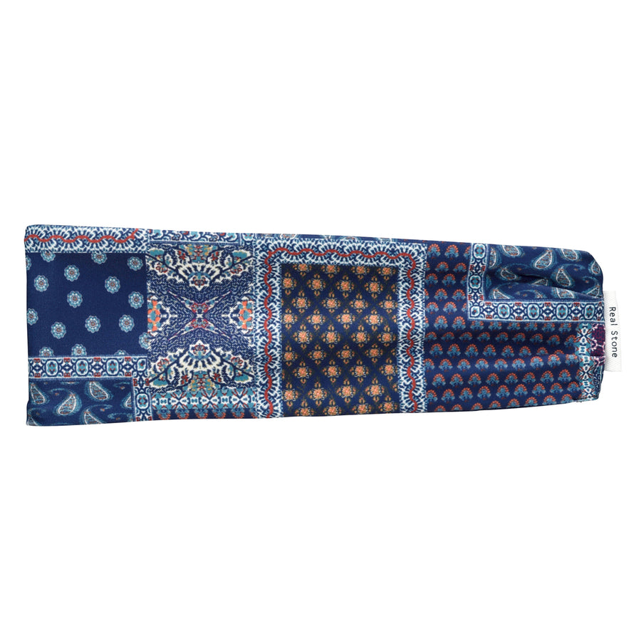 <NEW>Pile Head Band - Navy Paisley