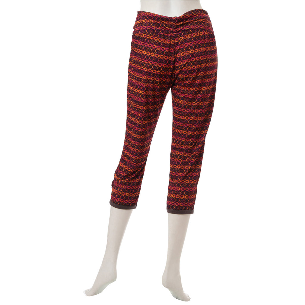 Ethnic Striped Easy Pants - Orange - bodyartwebstore