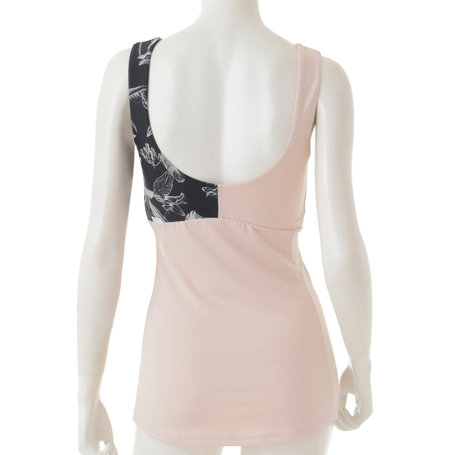 <NEW>High Tension Yoga Tank - Pink Beige
