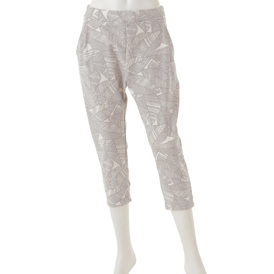 <NEW>Print Yoga Capri Pants - Leaf