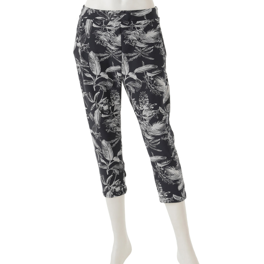 <NEW>Print Yoga Capri Pants - Botanical