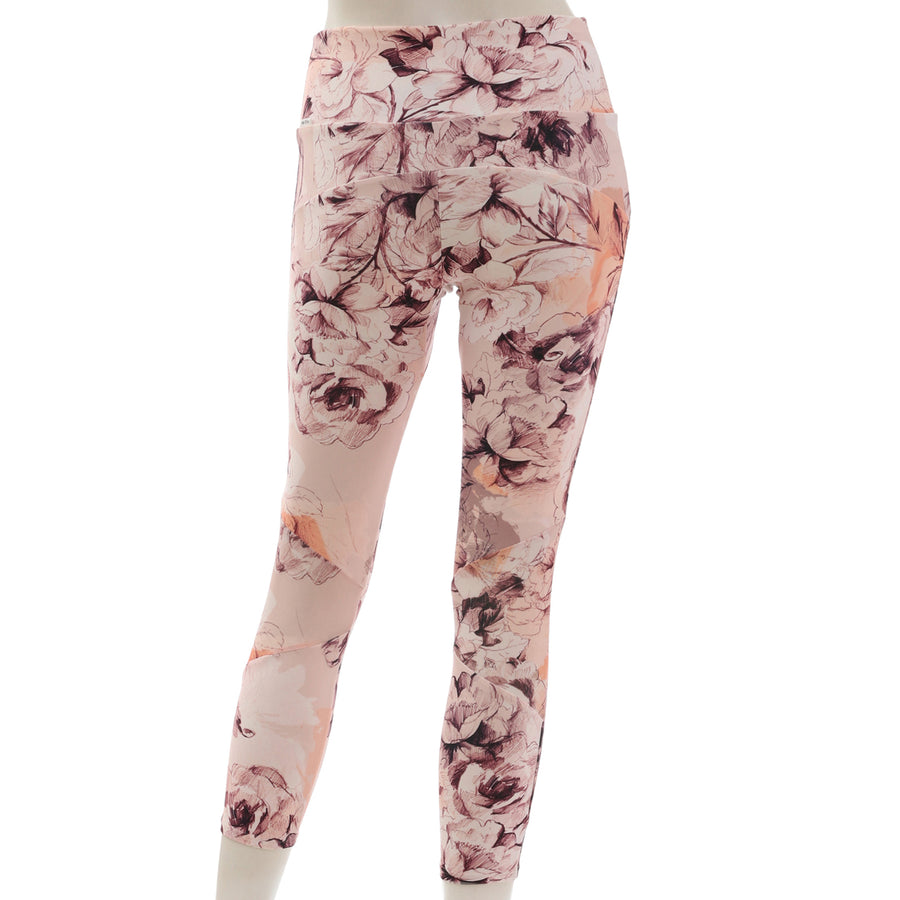 <NEW>Primeflex Cropped Leggings - Floral Pink