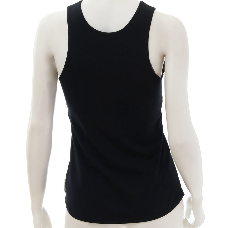 <NEW>Primeflex Faux Wrap Neck Top - Black