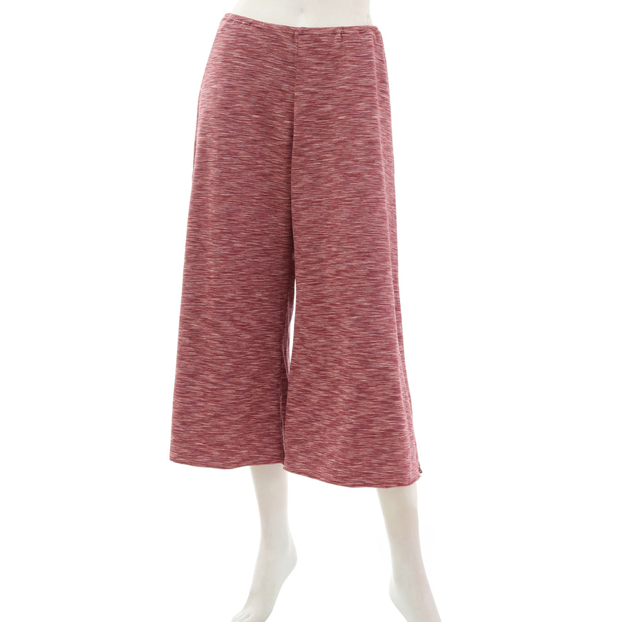 Mixed Color Stretch Relax Pants - Rose Pink