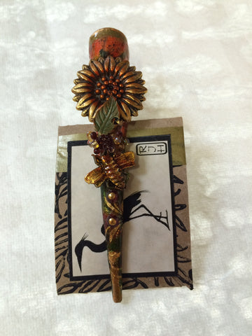 Hair Clip - Bee & Sunflower