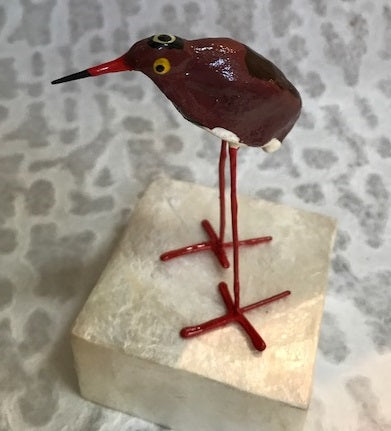 Sculpture - Red Waterbird