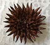Large Chocolate-Brown Ceramic Spiked Coral