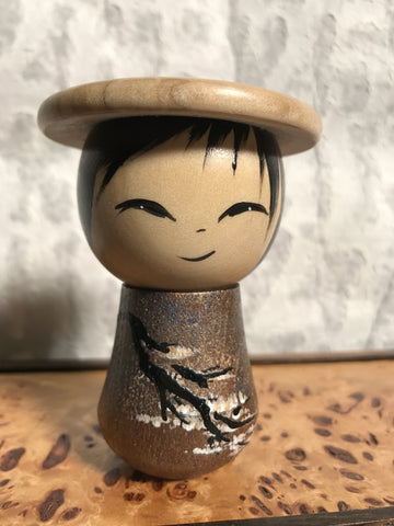 Kokeshi Doll - Cherry Blossoms