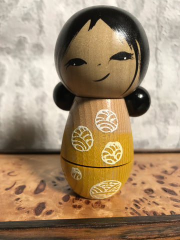 Kokeshi Doll - Yellow Shirt