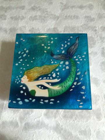 Small Capiz Shell Box - Mermaid