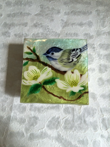 Small Capiz Shell Box - Bird