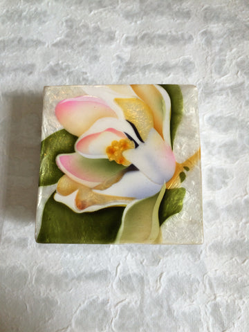 Small Capiz Shell Box - Water Lily