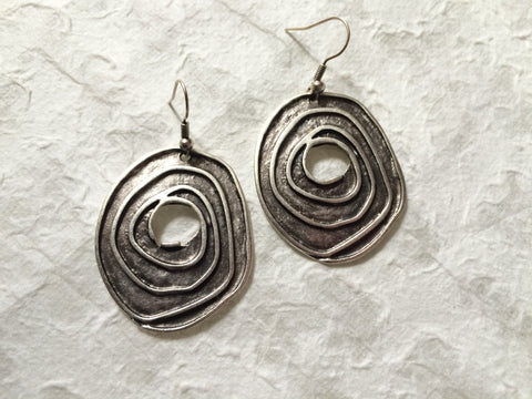 Earrings - Aluminum Spirals - Recycled Metal