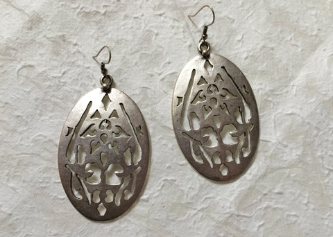 Earrings - Patterned Aluminum - Recycled Metal
