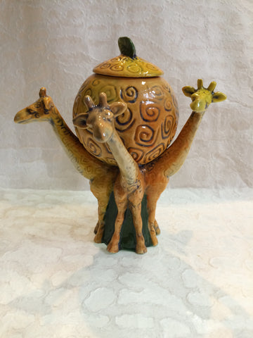 Ceramic Bowl - Giraffe Trio