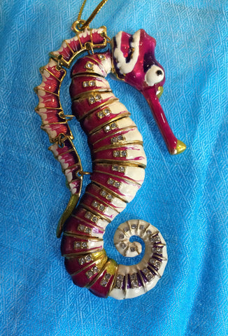 Ornament - Pink Seahorse