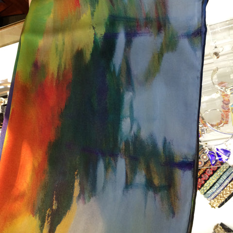 Silk Scarf - Painted Rainbow