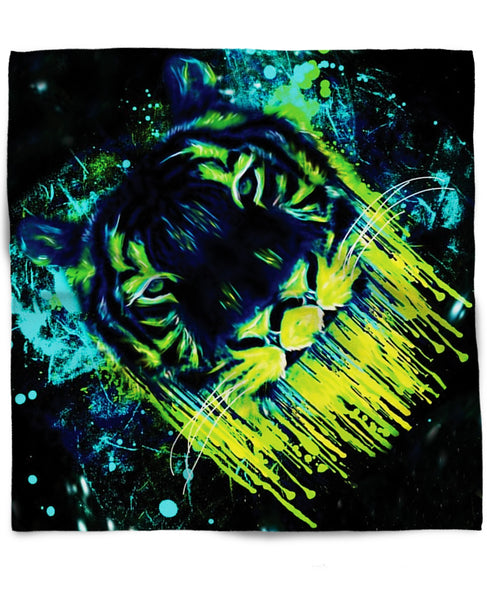 Tiger Drippy Bandana