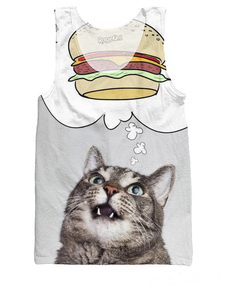 Burger Cat Tank Top