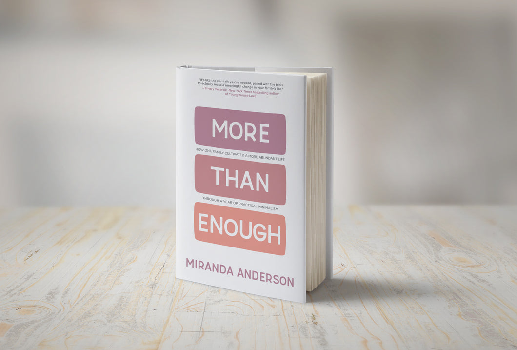 BOOK - MORE THAN ENOUGH