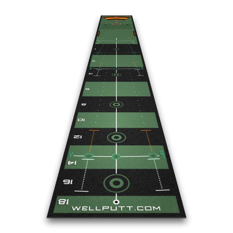 WellPutt 13ft premium putting improvement training aid.