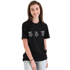 Happy Sad Excited Smiley Tee
